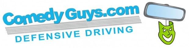 comedy guys defensive driving logo - wide