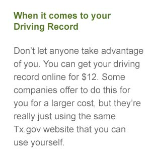 texas driving records online defensive driving certificate