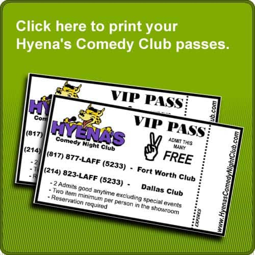 Everyone who take our defensive driving classes take passes to Hyena's Comedy Club