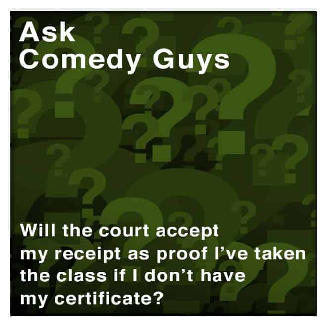 will texas accept defensive driving receipt if i have not received my certificate