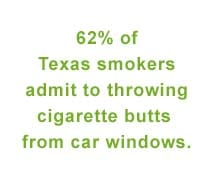cigarette butts litter in texas comedy guys defensive driving school