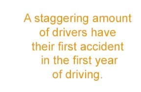 first year drivers accident rate