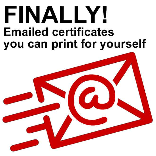 printable defensive driving certificates emailed to you